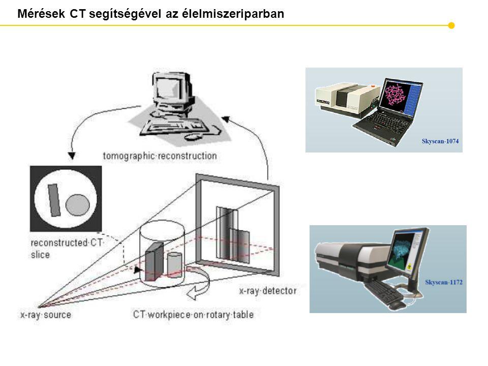 Mérések CT segítségével az élelmiszeriparban
