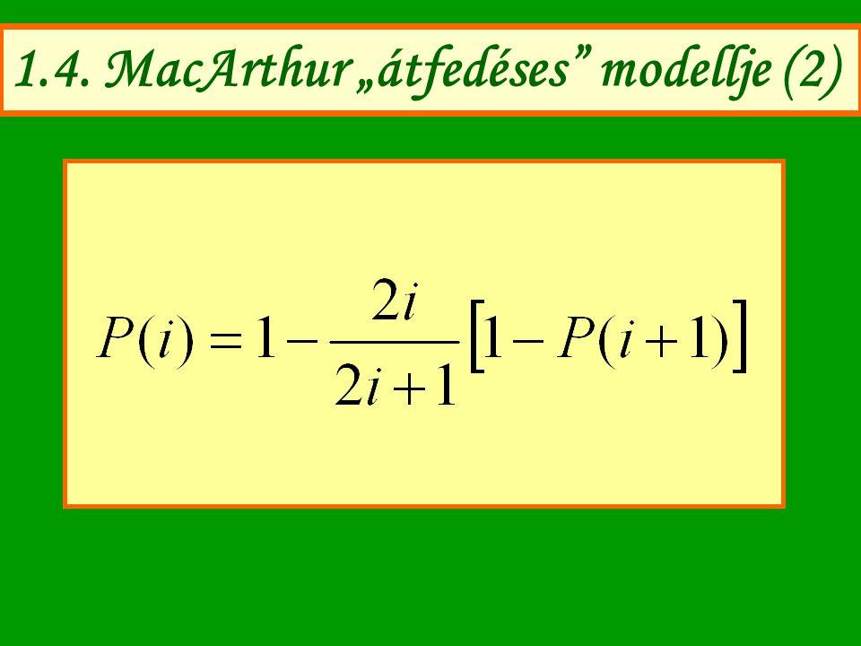 "1.4. MacArthur ""átfedéses"" modellje (2)"