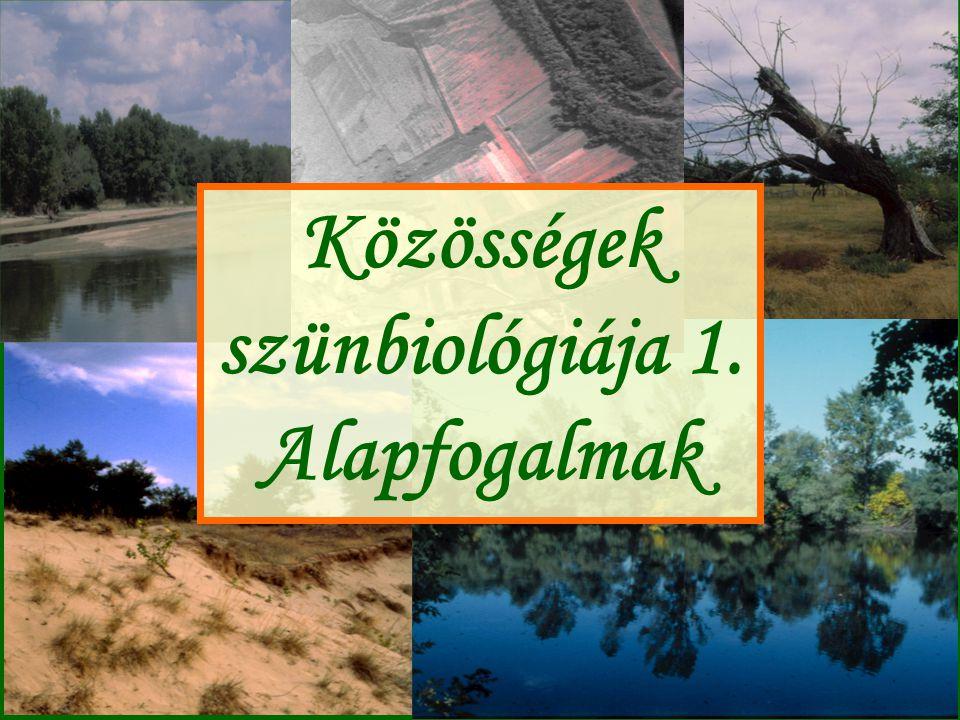 Közösségek szünbiológiája 1. Alapfogalmak