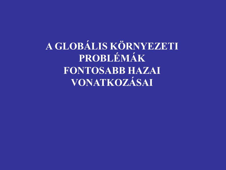 A GLOBÁLIS KÖRNYEZETI PROBLÉMÁK FONTOSABB HAZAI VONATKOZÁSAI