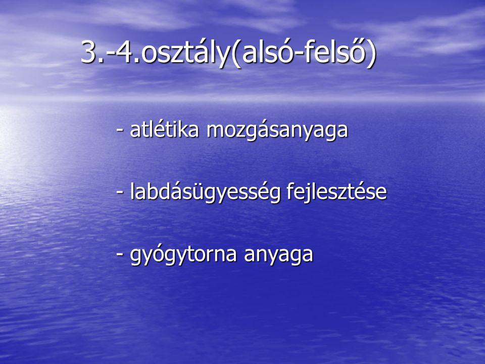 1.-4.osztály(játék és munka) 1.-4.osztály(játék és munka) - Új eszközök megismerése - Új eszközök megismerése - Megtanulni használatukat - Megtanulni használatukat - Élvezni a friss levegőt - Élvezni a friss levegőt - Megszerettetni az úszást - Megszerettetni az úszást