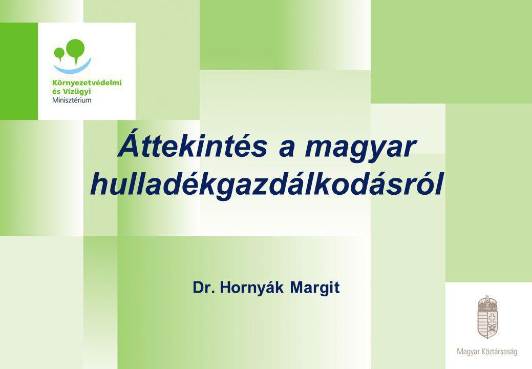 Áttekintés a magyar hulladékgazdálkodásról Dr. Hornyák Margit