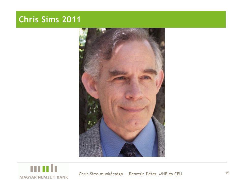 15 Chris Sims munkássága - Benczúr Péter, MNB és CEU Chris Sims 2011