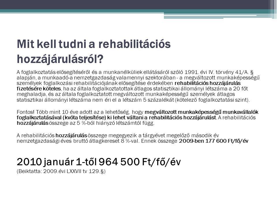 Mit kell tudni a rehabilitációs hozzájárulásról.