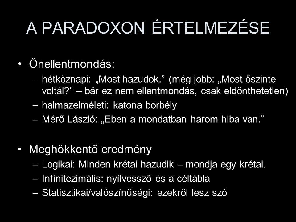 10 paradoxon 1.Születésnap 2.Simpson 3.Szerencsejátékok 4.Monty Hall 5.Választási 6.Jákob és Lábán 7.Bertrand 8.Titkárnő-házasodási 9.Kockázási