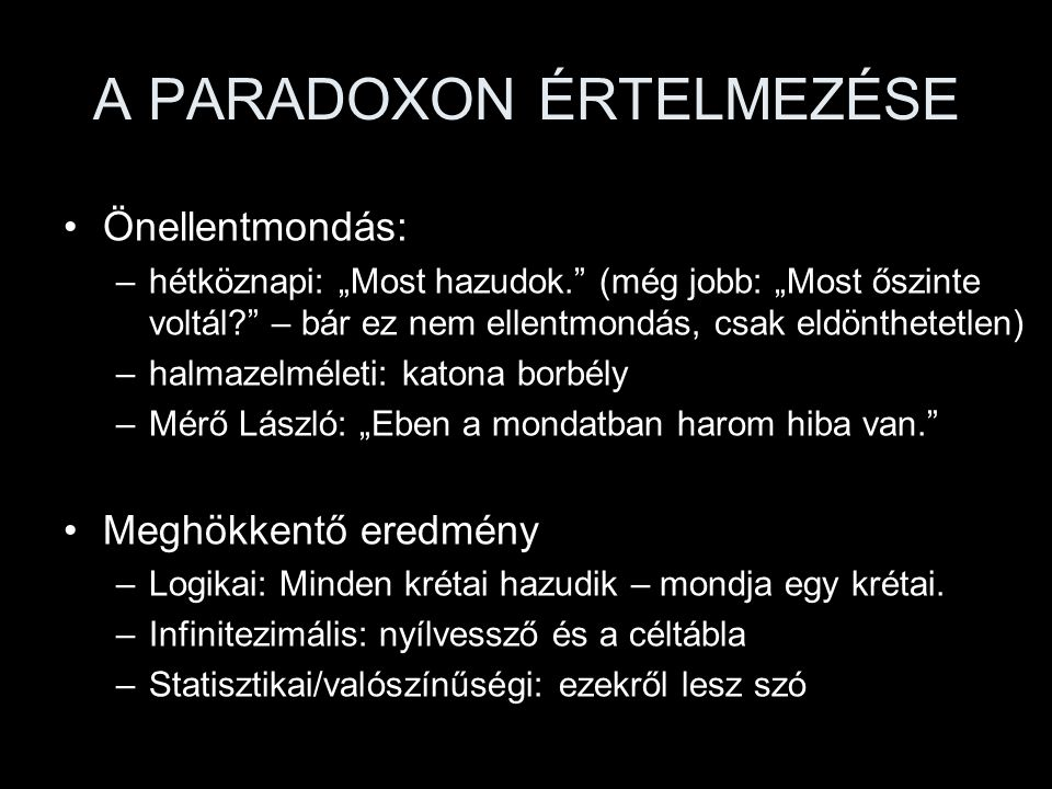 Mitől paradoxon.