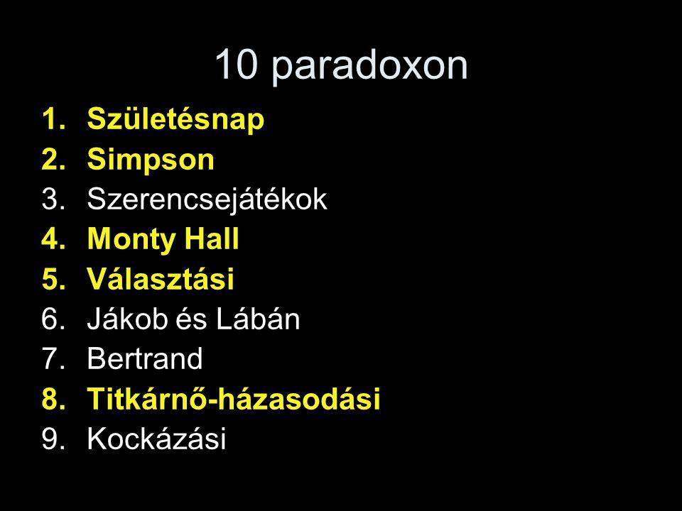 VÁLASZTÁSI PARADOXONOK