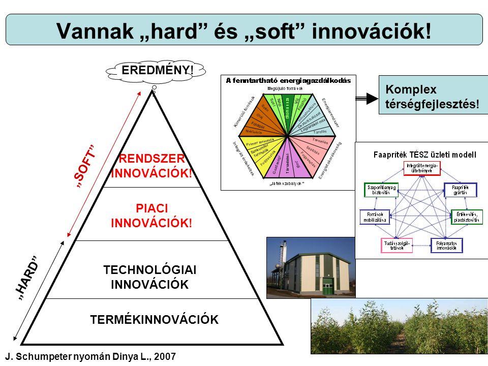 """Vannak """"hard és """"soft innovációk. TERMÉKINNOVÁCIÓK TECHNOLÓGIAI INNOVÁCIÓK PIACI INNOVÁCIÓK."""