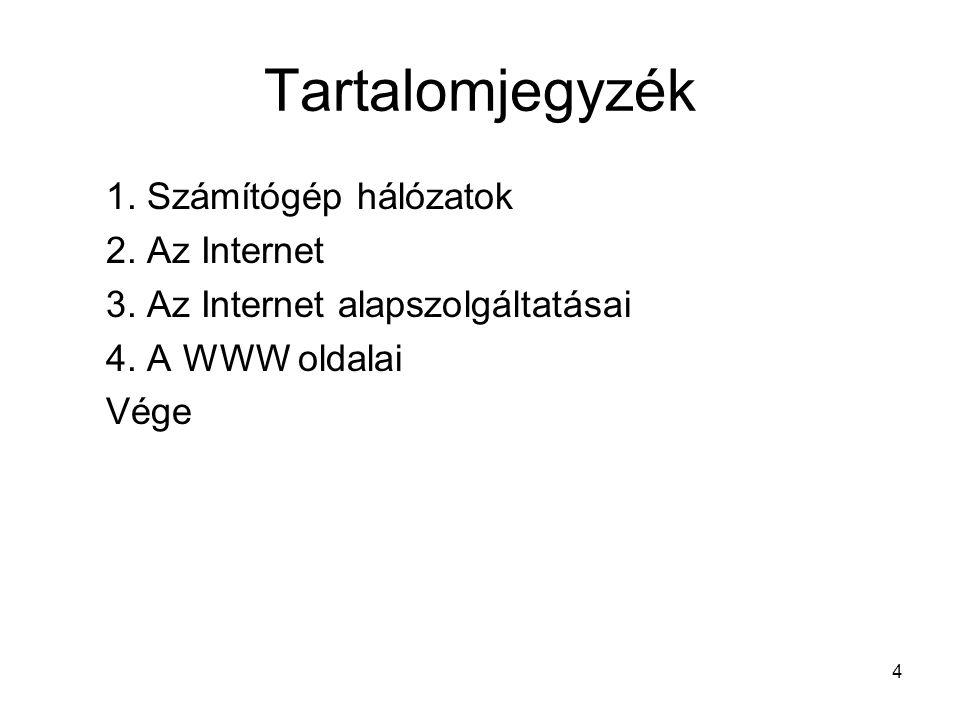 25 3.Az Internet alapszolgáltatásai –3.1. Távoli terminál szolgáltatás (Telnet) –3.2.