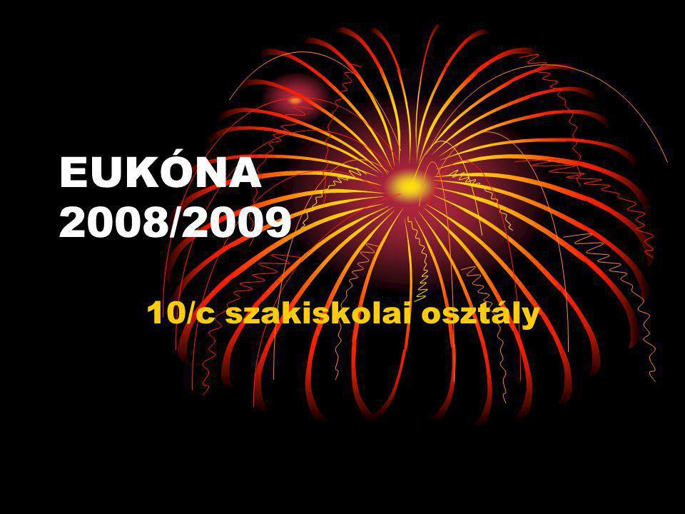EUKÓNA 2008/2009 10/c szakiskolai osztály