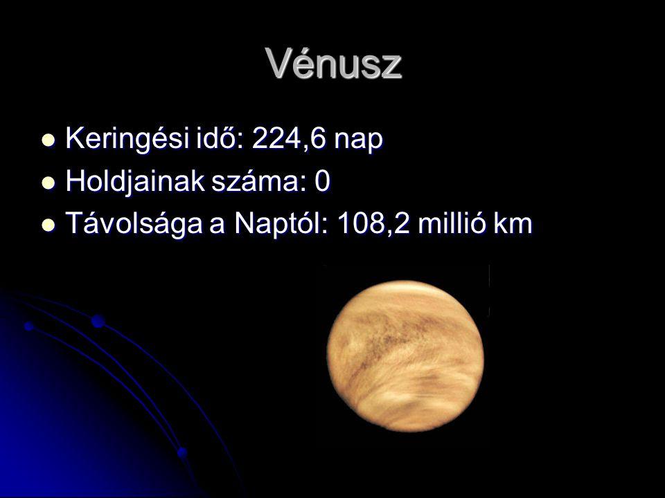 Föld Keringési idő: 365,24 nap Keringési idő: 365,24 nap Holdjainak száma: 1 Holdjainak száma: 1 Távolsága a Naptól: 149,6 millió km Távolsága a Naptól: 149,6 millió km