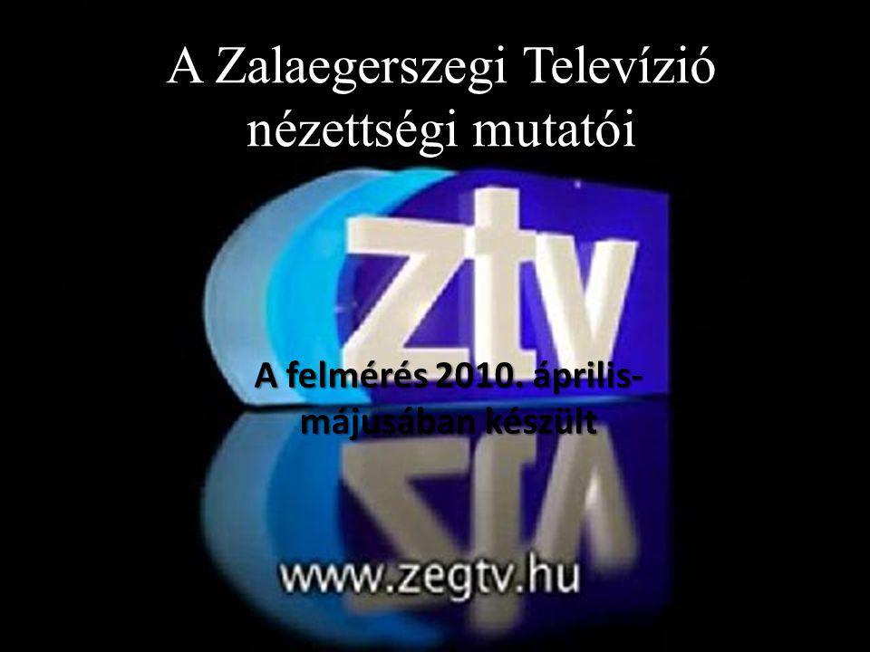 A Zalaegerszegi Televízió nézettségi mutatói A felmérés 2010. április- májusában készült