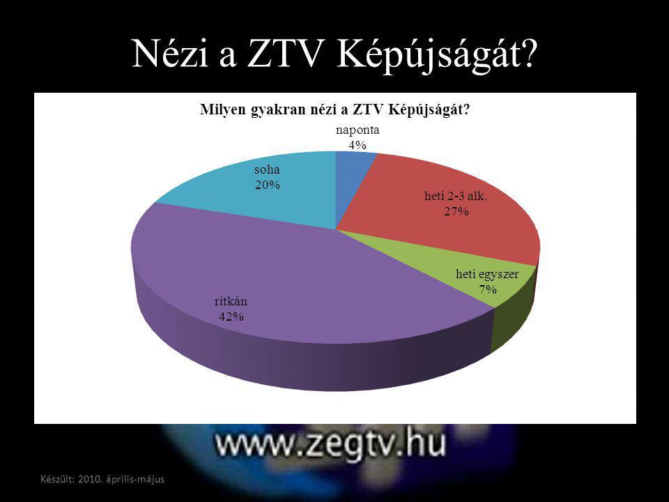 Nézi a ZTV Képújságát? Készült: 2010. április-május