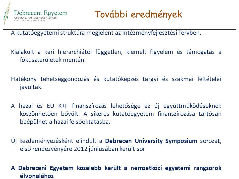 A kutatóegyetemi struktúra megjelent az Intézményfejlesztési Tervben.