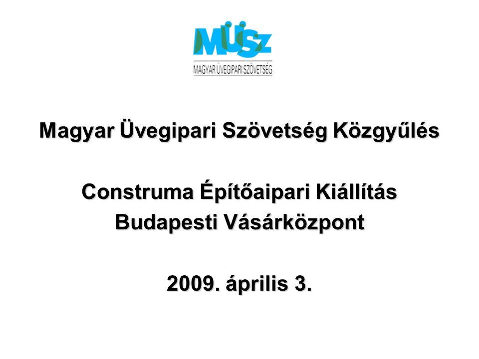Magyar Üvegipari Szövetség Közgyűlés Construma Építőaipari Kiállítás Budapesti Vásárközpont 2009.