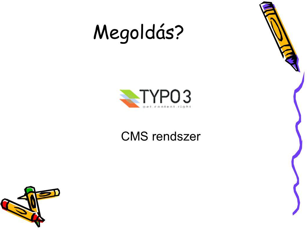 Megoldás CMS rendszer