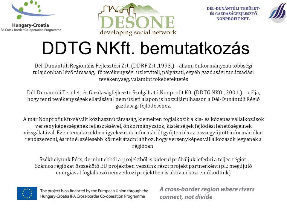Dél-Dunántúli Regionális Fejlesztési Zrt. (DDRF Zrt.,1993.) – állami önkormányzati többségi tulajdonban lévő társaság, fő tevékenység: üzletviteli, pá