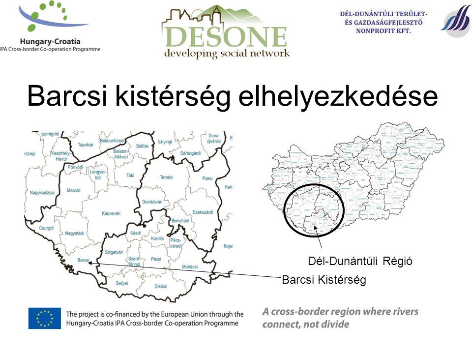 Barcsi kistérség elhelyezkedése Barcsi Kistérség Dél-Dunántúli Régió