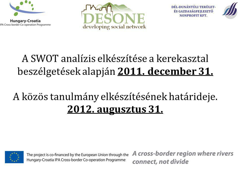 A SWOT analízis elkészítése a kerekasztal beszélgetések alapján 2011.