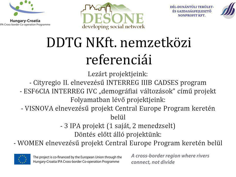 Lezárt projektjeink: - Cityregio II.