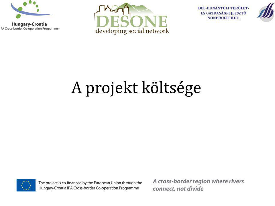 A projekt költsége