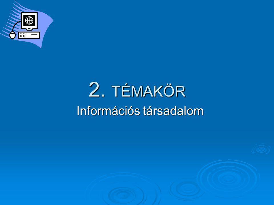 2. TÉMAKÖR Információs társadalom