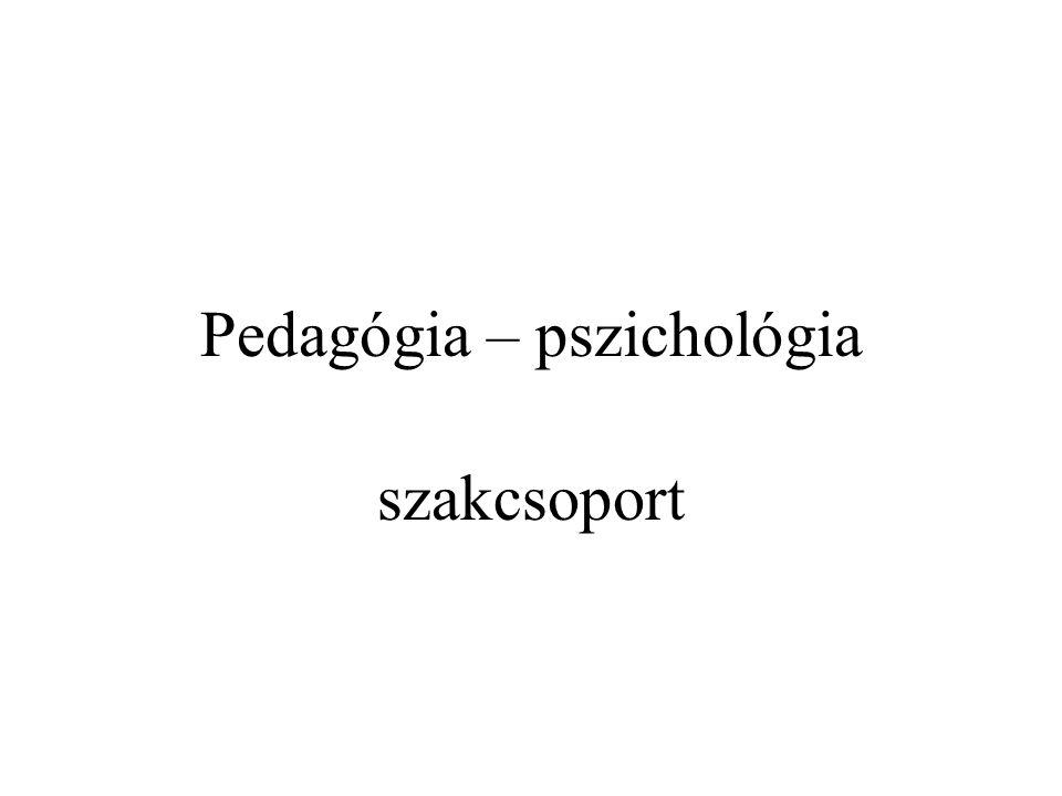 Pedagógia – pszichológia szakcsoport