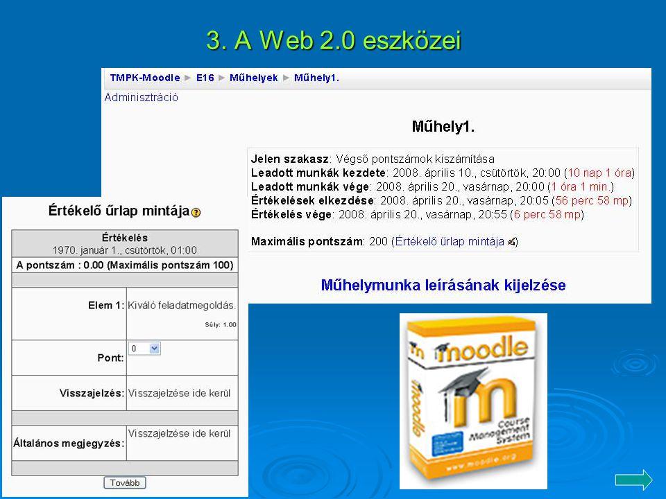 3. A Web 2.0 eszközei