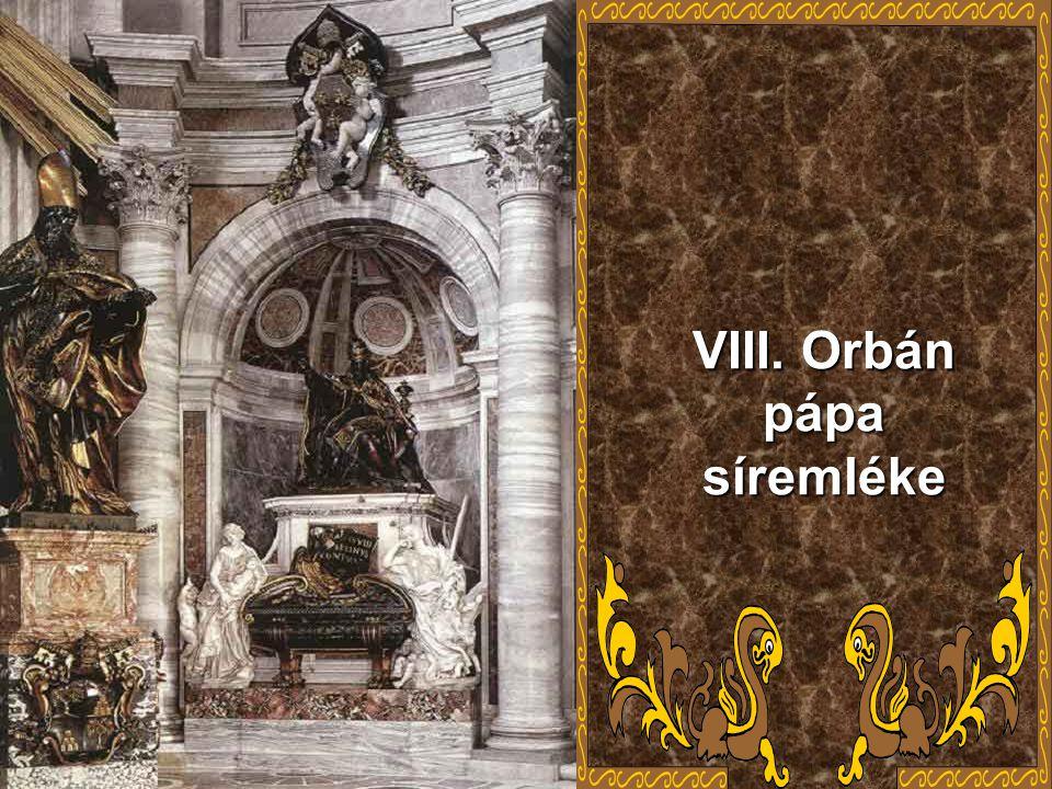 Szobrászati műveinek hosszú sorát alkotta : VIII.