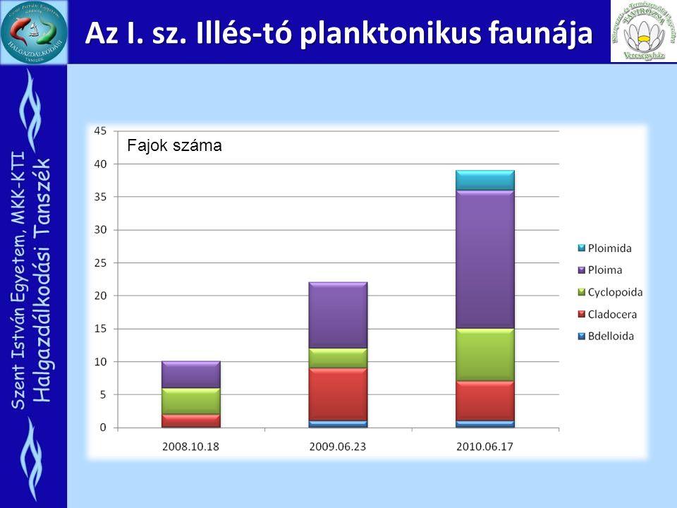 Az I. sz. Illés-tó planktonikus faunája Fajok száma