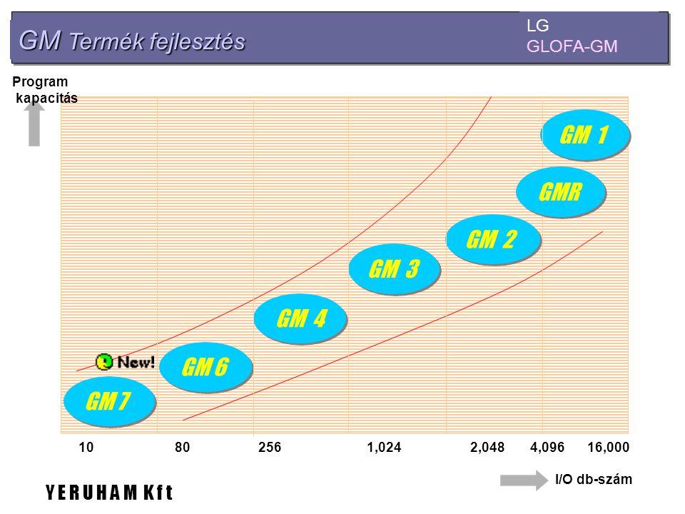 GM Termék fejlesztés LG GLOFA-GM GM 7 GM 6 GM 4 GM 3 GM 1 GM 2 802561,0242,04816,000104,096 I/O db-szám Program kapacitás GMR Y E R U H A M K f t