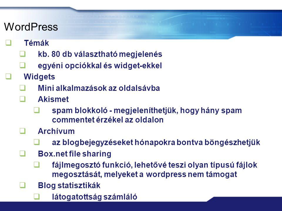 WordPress  Témák  kb.
