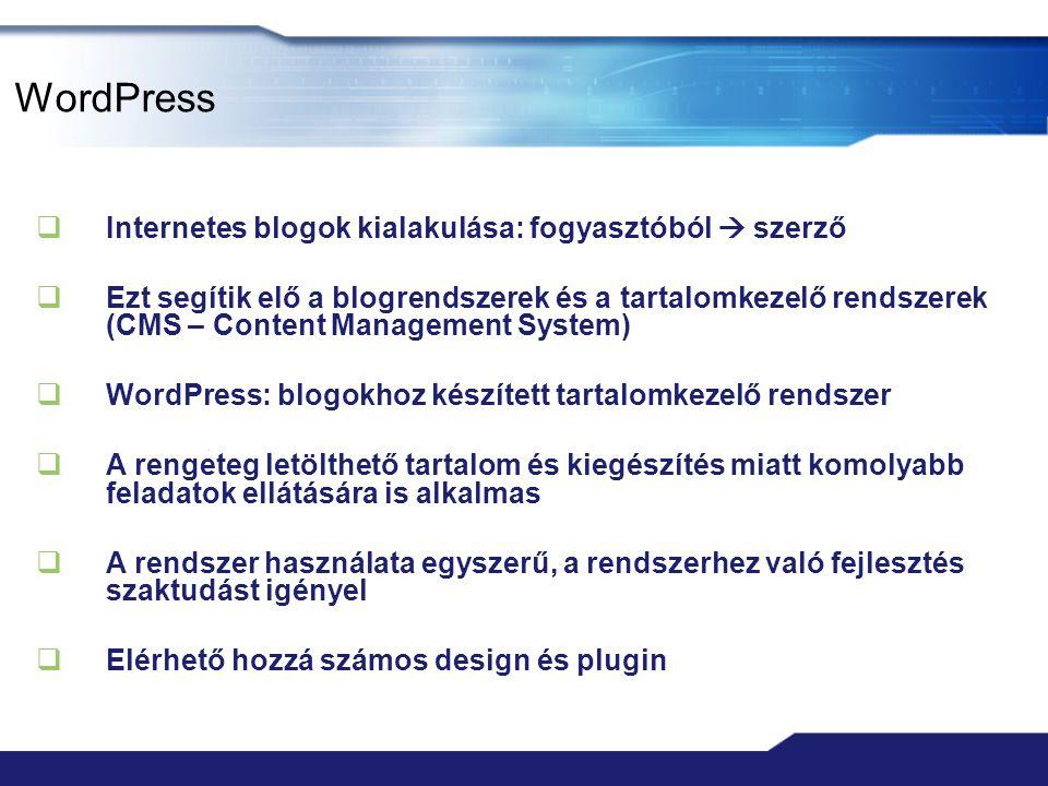 Wordpress  Slideshare prezentációk közzététele - slideshare.net  pdf, ppt, pptx, doc, docx, stb.