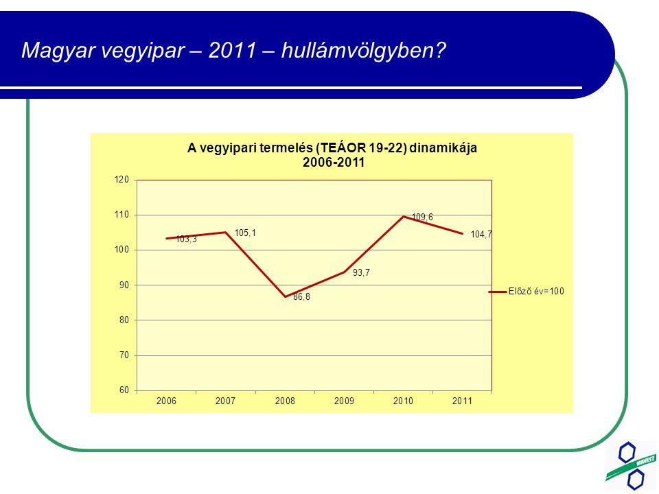 Magyar vegyipar – 2011 – hullámvölgyben