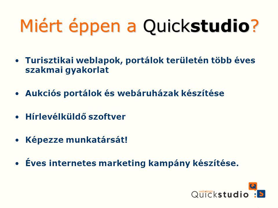 Turisztikai weblapok, portálok területén több éves szakmai gyakorlat Aukciós portálok és webáruházak készítése Hírlevélküldő szoftver Képezze munkatár