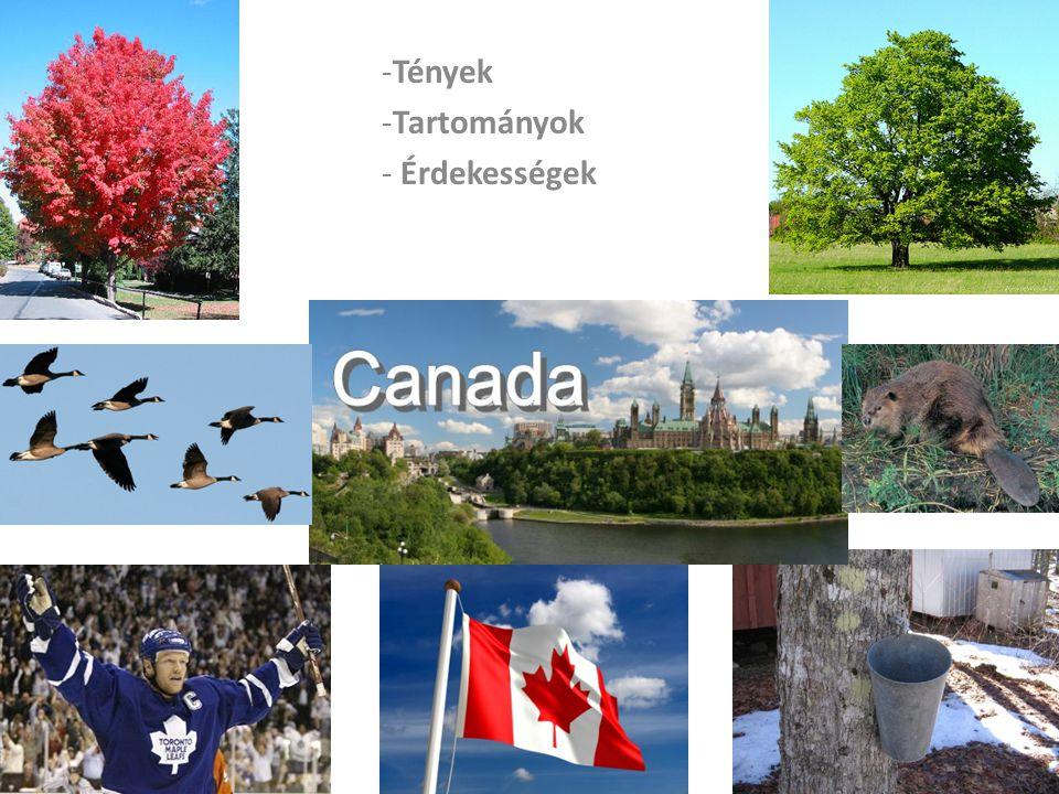 Tények Kanadáról Területre a világ második legnagyobb országa.