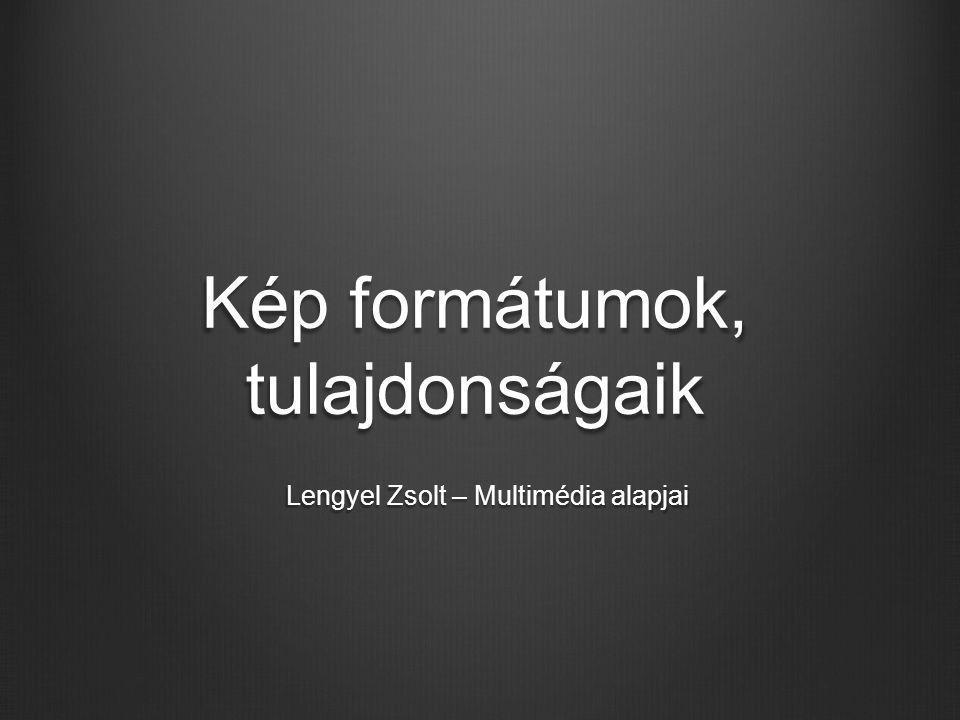 Kép formátumok, tulajdonságaik Lengyel Zsolt – Multimédia alapjai