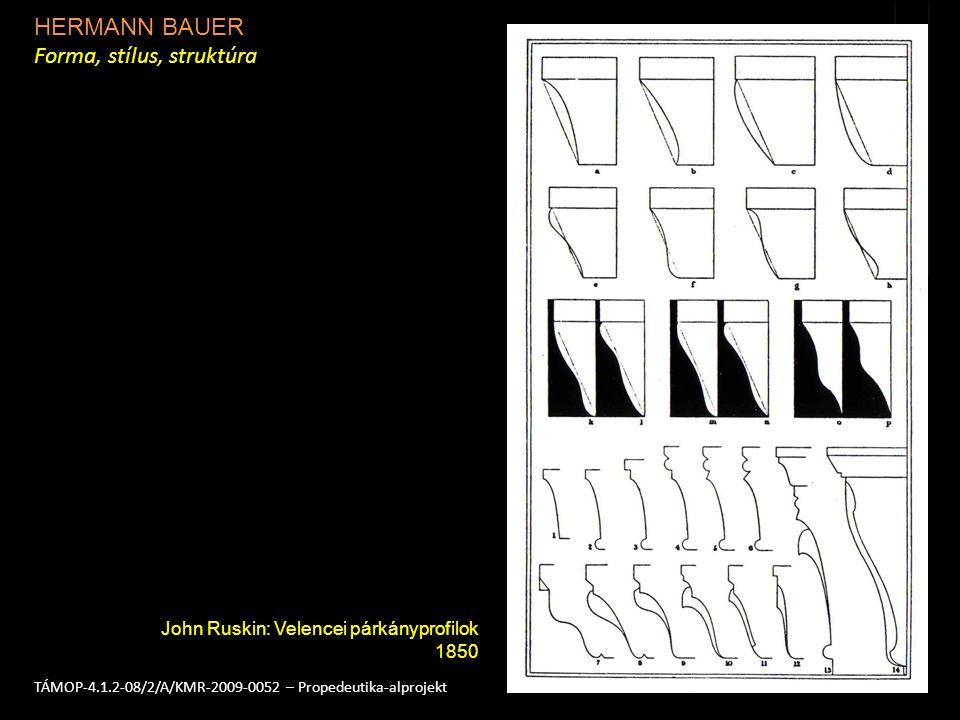 HERMANN BAUER Forma, stílus, struktúra 3TÁMOP-4.1.2-08/2/A/KMR-2009-0052 – Propedeutika-alprojekt John Ruskin: Az oszlopfő konvex és konkáv alaptípusai 1850