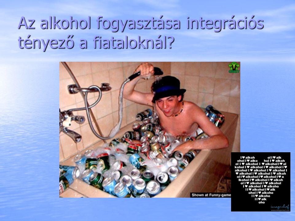 Az alkohol fogyasztása integrációs tényező a fiataloknál?