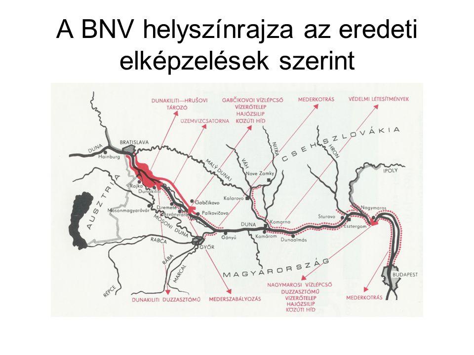 A BNV helyszínrajza az eredeti elképzelések szerint