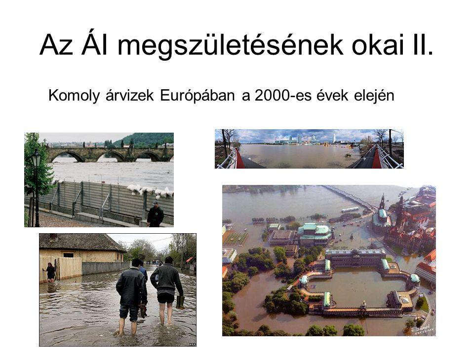 Az ÁI megszületésének okai II. Komoly árvizek Európában a 2000-es évek elején