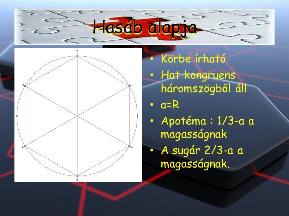 Ta=3a2√3/2 Fo=6ah Ft=Fo+2Ta V=3a2√3/2 x h