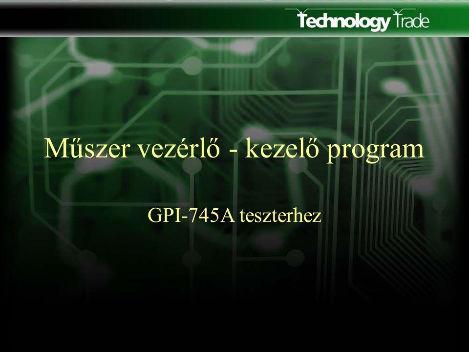 Szervíz funkció A műszer programozói könyvében található parancsok segítségével utasítás küldhető a műszerre.