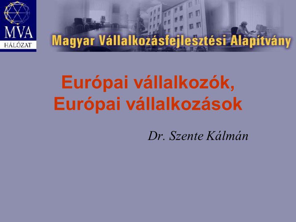Európai vállalkozók, Európai vállalkozások Dr. Szente Kálmán