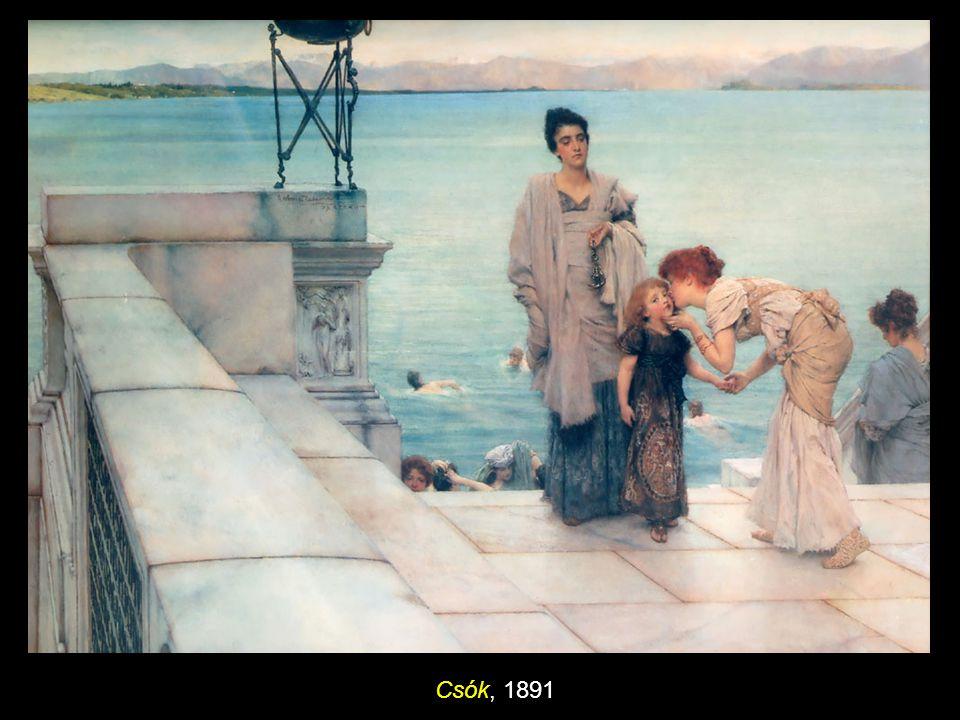 Sappho és Alcaeus 1881, olaj vásznon, 66 x 122 cm, magángyűjtemény