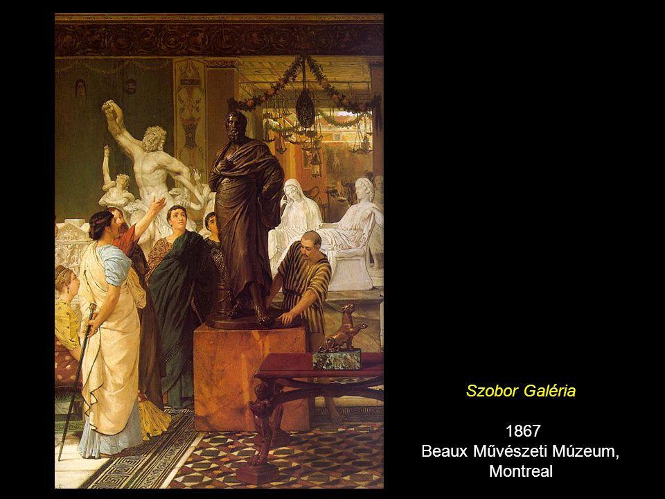Phidias megmutatja a Parthenon frízét a barátainak