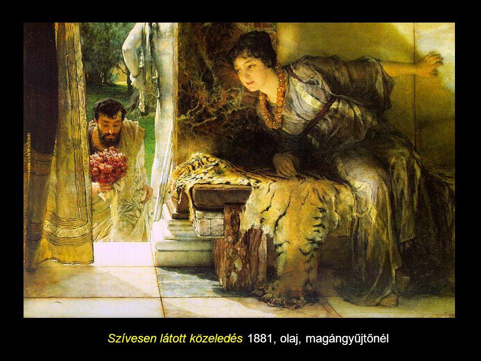Szívesen látott közeledés 1881, olaj, magángyűjtőnél