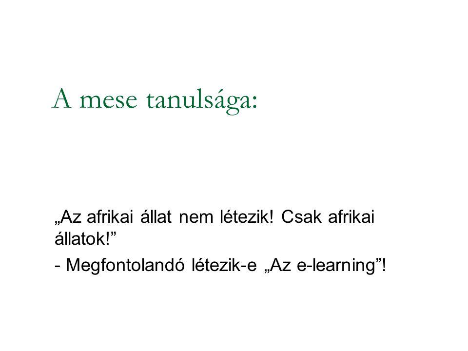 Mi az e-learning?
