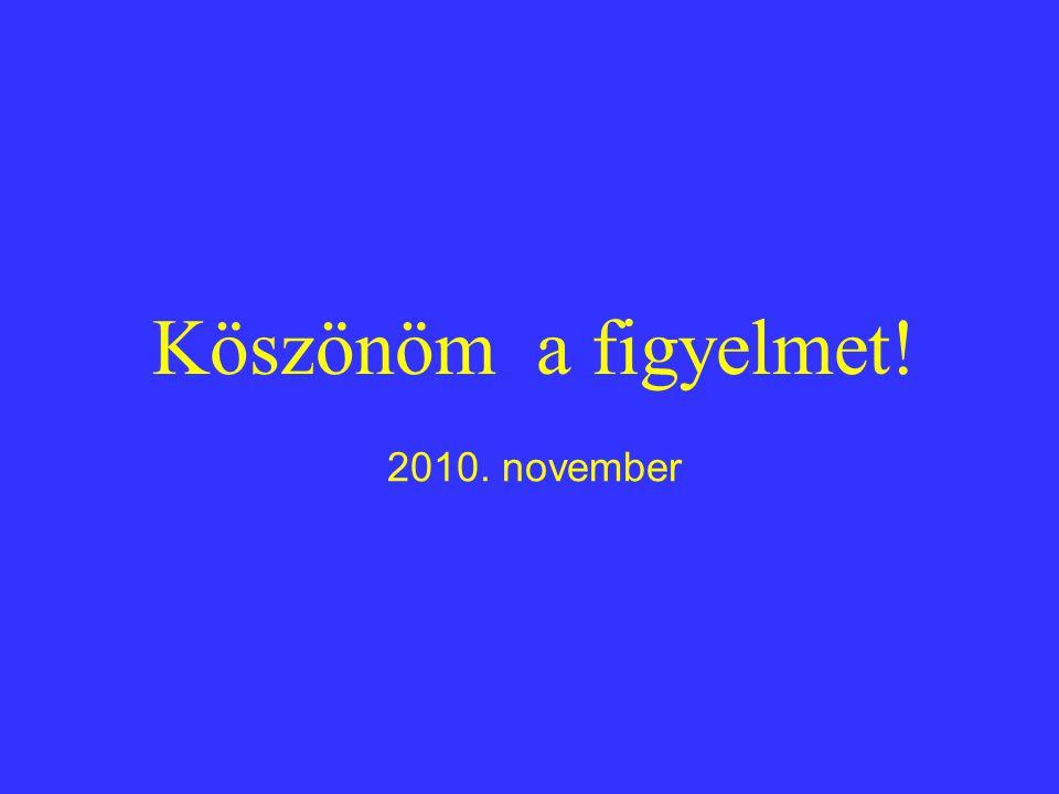 Köszönöm a figyelmet! 2010. november