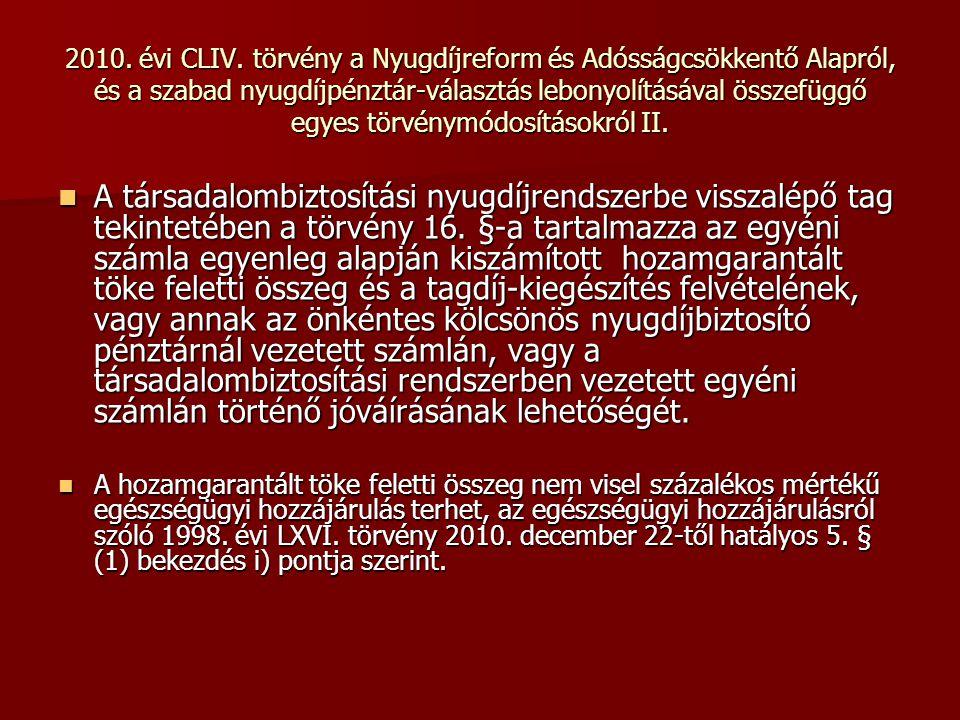 2010. évi CLIV.